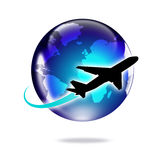 Ταξίδι αεροπλάνων διανυσματική απεικόνιση
