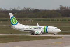 Ταξίδι αεροπλάνων Transavia Στοκ εικόνα με δικαίωμα ελεύθερης χρήσης