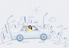 Ταξίδι αυτοκινήτων Στοκ εικόνα με δικαίωμα ελεύθερης χρήσης