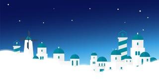 Ταξίδι αφισών στον ορίζοντα της Ελλάδας ακρόπολη επίσης corel σύρετε το διάνυσμα απεικόνισης Στοκ Φωτογραφίες
