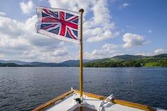Ταξίδι βαρκών στη λίμνη Windermere η βρετανική περιοχή λιμνών Στοκ Εικόνες