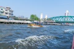 Ταξίδι βαρκών στον ποταμό Chao Phraya Στοκ εικόνα με δικαίωμα ελεύθερης χρήσης