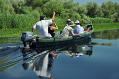 Ταξίδι βαρκών στο δέλτα Δούναβη, Ρουμανία Στοκ φωτογραφία με δικαίωμα ελεύθερης χρήσης