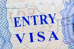 Ταξίδι γραμματοσήμων θεωρήσεων στοκ φωτογραφίες με δικαίωμα ελεύθερης χρήσης