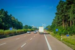 Ταξίδι εθνικών οδών στην Ευρώπη Στοκ Εικόνες