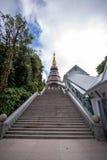 Ταξίδι ελεύθερου χρόνου θέσεων σε ένα βουνό Inthanon Στοκ Εικόνες