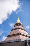 Ταξίδι ελεύθερου χρόνου θέσεων σε ένα βουνό Inthanon στοκ φωτογραφία