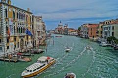 Ταξίδι ημέρας στο μεγάλο κανάλι της Βενετίας Στοκ Φωτογραφίες