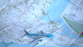 Ταξίδι και ελεύθερος χρόνος σε ένα αεροπλάνο απόθεμα βίντεο
