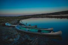 Ταξίδι κανό στον ποταμό Στοκ εικόνα με δικαίωμα ελεύθερης χρήσης