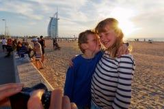 Ταξίδι με τα παιδιά - Ντουμπάι στοκ εικόνες με δικαίωμα ελεύθερης χρήσης