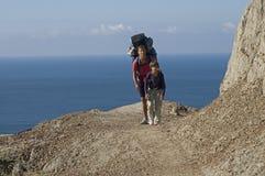 Ταξίδι με το σακίδιο πλάτης Στοκ φωτογραφία με δικαίωμα ελεύθερης χρήσης