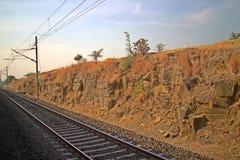Ταξίδι με το τραίνο Κεντρίσματα του οροπέδιου Deccan Ινδία Στοκ εικόνες με δικαίωμα ελεύθερης χρήσης