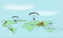 Ταξίδι σε όλο τον κόσμο με το ανεμόπτερο Στοκ Φωτογραφία