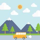 Ταξίδι στον κήπο με το αυτοκίνητο Στοκ εικόνες με δικαίωμα ελεύθερης χρήσης