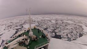 Ταξίδι στον πάγο, αρκτικό απόθεμα βίντεο