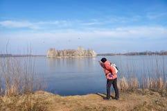 Ταξίδι στους κορμοράνους λιμνών Στοκ Εικόνες