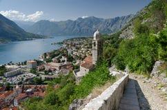 Ταξίδι στο Μαυροβούνιο, Kotor, Αδριατική Στοκ Φωτογραφία