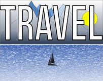 Ταξίδι - σύννεφο λέξης Στοκ Εικόνα