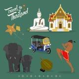Ταξίδι Ταϊλάνδη απεικόνιση αποθεμάτων