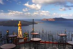 Ταξίδι της Ελλάδας τοπίων νησιών Santorini Στοκ Εικόνες