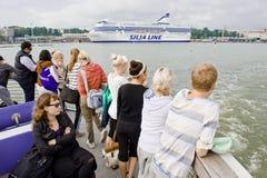 ταξίδι τουριστών βαρκών Στοκ Φωτογραφίες