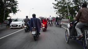 Ταξίδι του Βιετνάμ, κυκλοφορία οδών πόλεων απόθεμα βίντεο