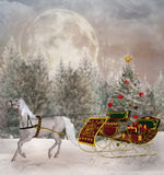 Ταξίδι Χριστουγέννων Στοκ Εικόνες