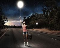 Ταξίδι Autostop Στοκ φωτογραφίες με δικαίωμα ελεύθερης χρήσης