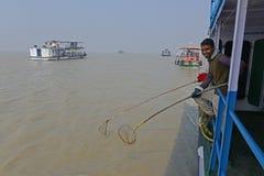 Ταξίδι Gangasagar στοκ εικόνα