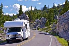 Ταξίδι Yellowstone rv Στοκ φωτογραφία με δικαίωμα ελεύθερης χρήσης