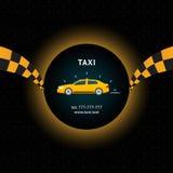 ταξί κίτρινο Στοκ Εικόνα