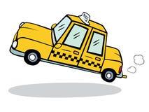 ταξί κίτρινο διανυσματική απεικόνιση
