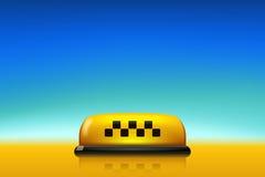 Ταξί με το μπλε ουρανό Στοκ φωτογραφία με δικαίωμα ελεύθερης χρήσης