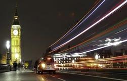 Ταξί νύχτας του Γουέστμινστερ Στοκ Φωτογραφία