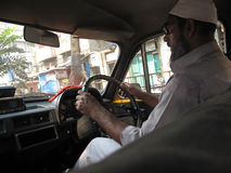 ταξί οδηγών Στοκ Εικόνα