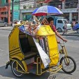 Ταξί ποδηλάτων, Μανίλα, Φιλιππίνες Στοκ φωτογραφία με δικαίωμα ελεύθερης χρήσης