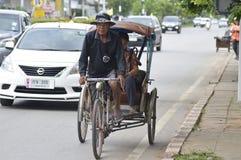 Ταξί ποδηλάτων σε Khon Kaen Ταϊλάνδη Στοκ Εικόνα