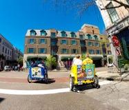Ταξί ποδηλάτων στην οδό βόρειας αγοράς, Τσάρλεστον, Sc Στοκ εικόνες με δικαίωμα ελεύθερης χρήσης