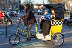 Ταξί ποδηλάτων στο Παρίσι Στοκ φωτογραφία με δικαίωμα ελεύθερης χρήσης