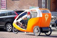 Ταξί ποδηλάτων στο Ρότερνταμ, Κάτω Χώρες Στοκ φωτογραφίες με δικαίωμα ελεύθερης χρήσης