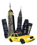 Ταξί πόλεων της Νέας Υόρκης Στοκ εικόνα με δικαίωμα ελεύθερης χρήσης