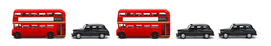 ταξί σειρών του Λονδίνου &de Στοκ Εικόνες