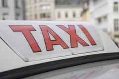 ταξί σημαδιών Στοκ Φωτογραφία