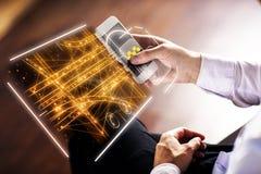 Ταξί app και έννοια τεχνολογίας Στοκ εικόνες με δικαίωμα ελεύθερης χρήσης