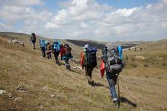ταξιδιώτες ομάδας Στοκ Εικόνες