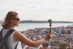 Ταξιδιώτης γυναικών Στοκ Φωτογραφία