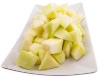 Ταξινομημένα δάγκωμα φρούτα δροσιάς μελιού σε ένα πιάτο ΙΙΙ Στοκ φωτογραφία με δικαίωμα ελεύθερης χρήσης