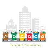 ταξινομώντας απόβλητα Στοκ Εικόνες