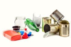Ταξινόμηση των τύπων απορριμάτων Έννοια διαχείρησης αποβλήτων Στοκ Φωτογραφίες